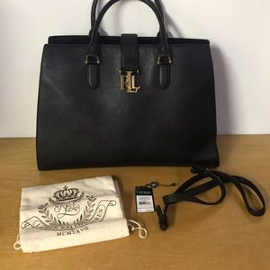 Ralph Lauren Carrington Black Purse
